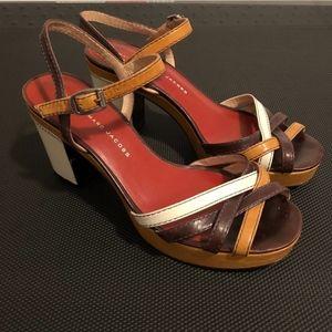 Marc by Marc Jacobs Colorblock Sandals Size 37.5